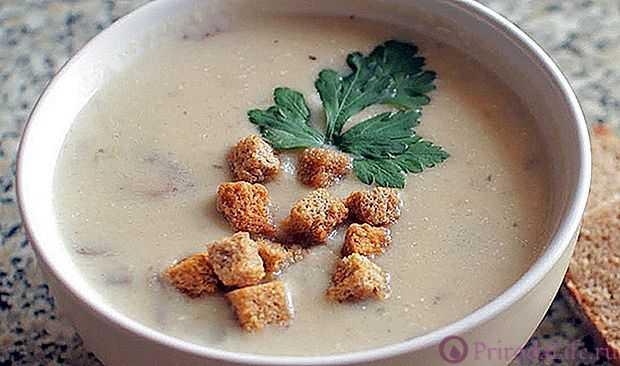 Суп-пюре из шампиньонов: как приготовить пошагово