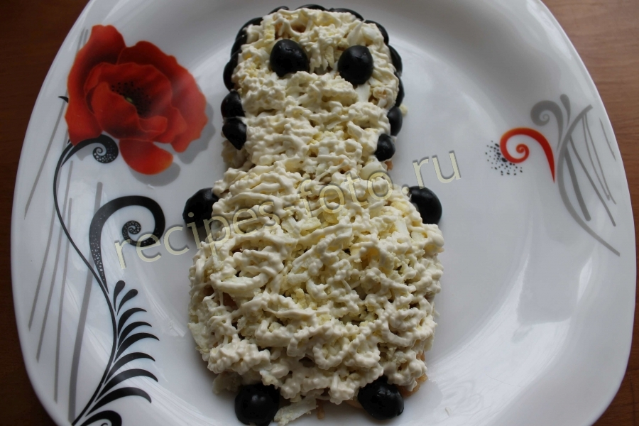 Салат пингвин рецепт с фото
