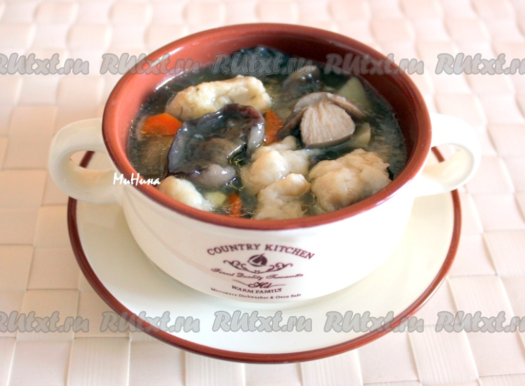 Пошаговый рецепт приготовления грибного супа из замороженных грибов