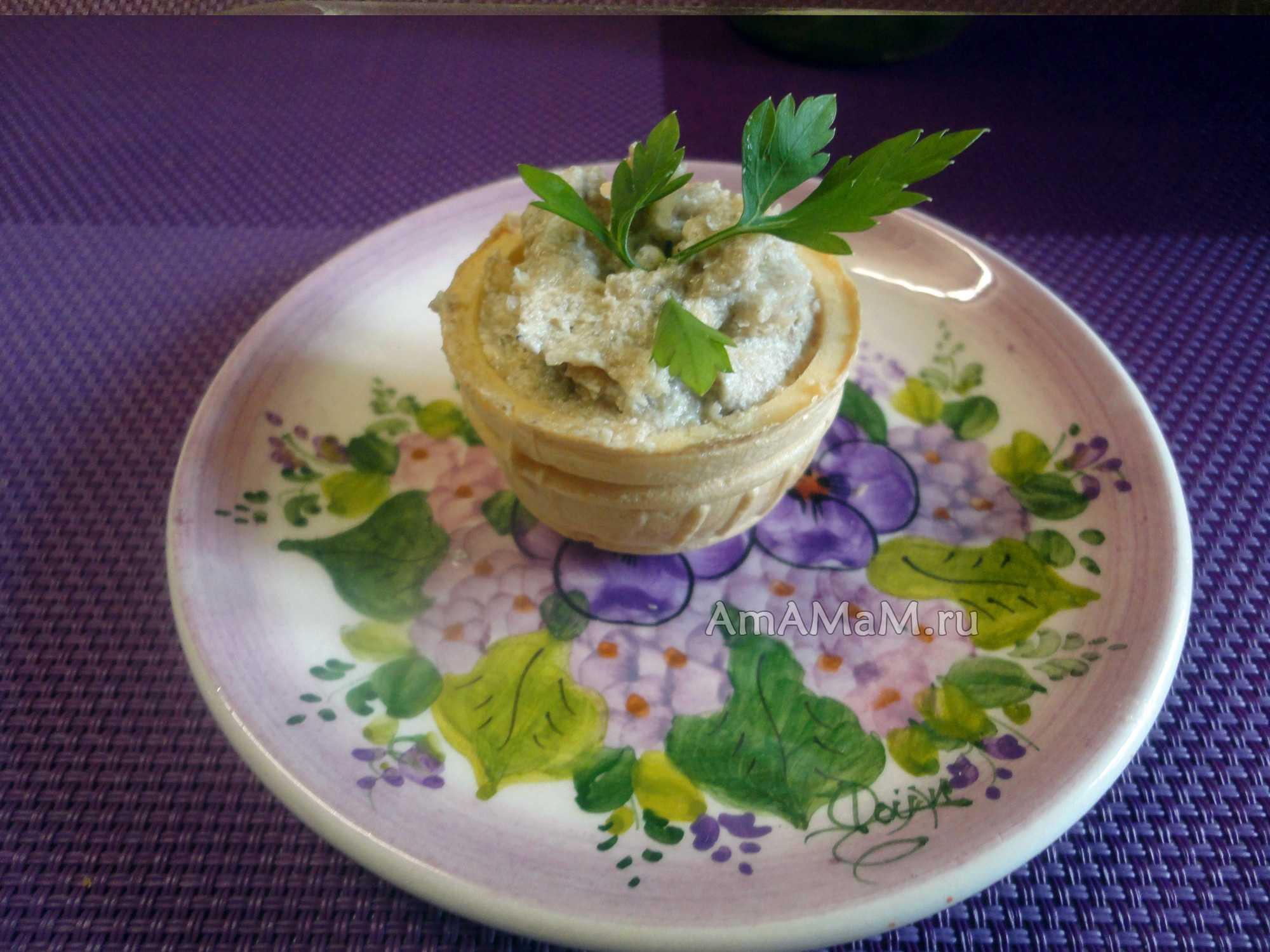Пошаговый рецепт грибного паштета из шампиньонов