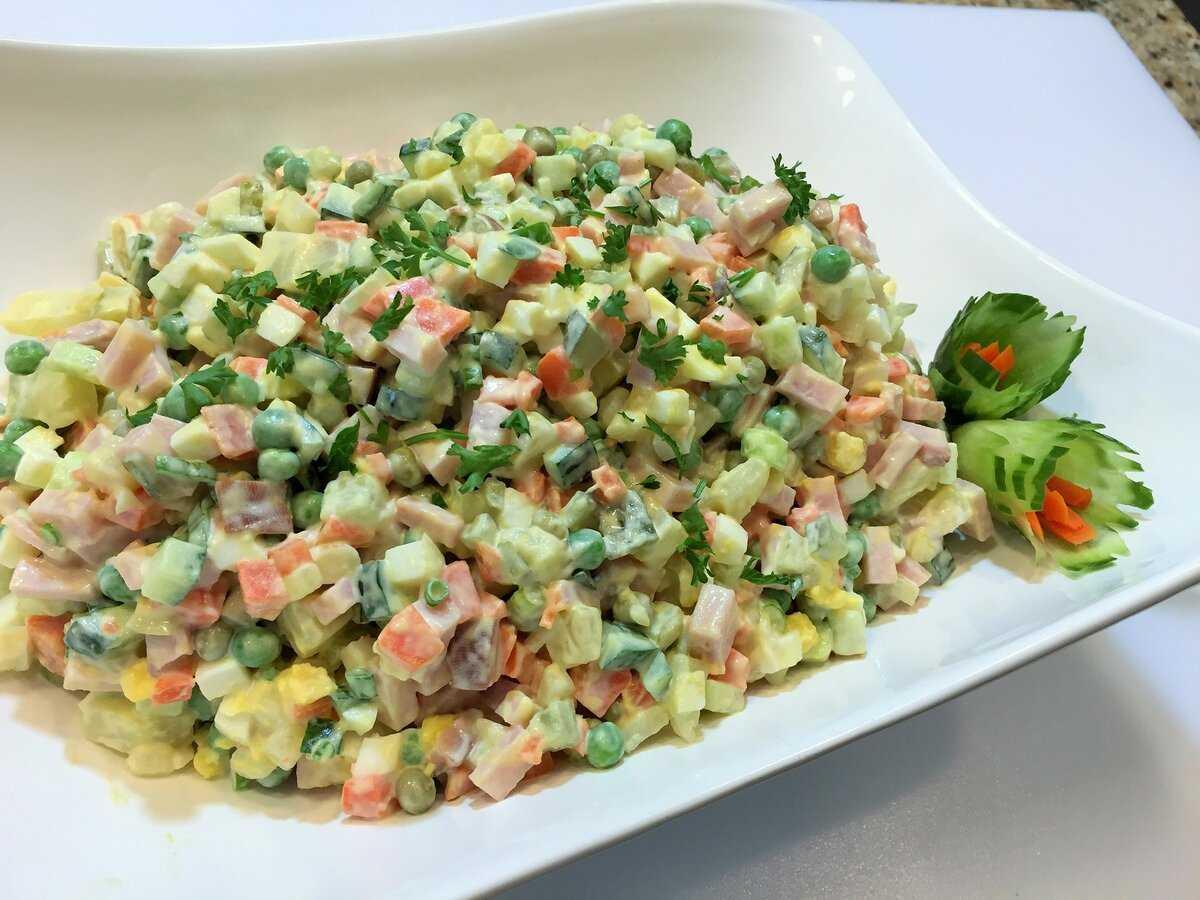 Зимний салат классический