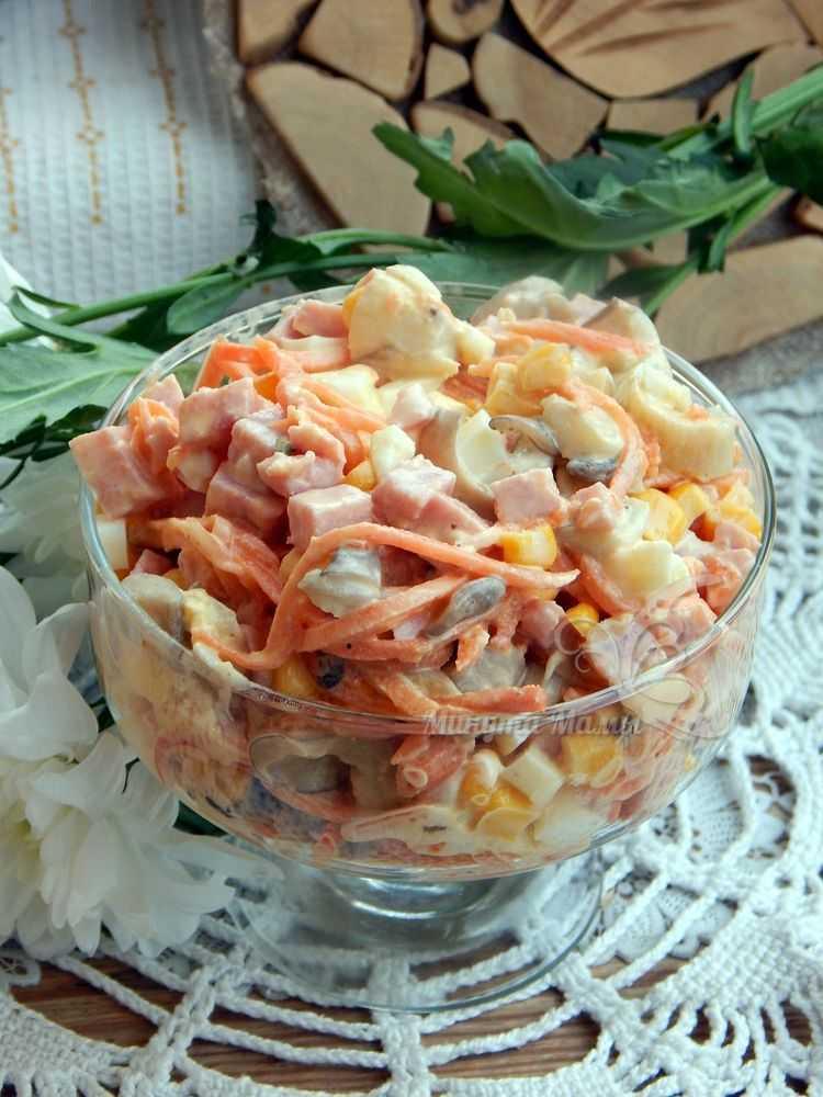 Как приготовить простые и вкусные салаты с корейской морковью по пошаговому рецепту с фото