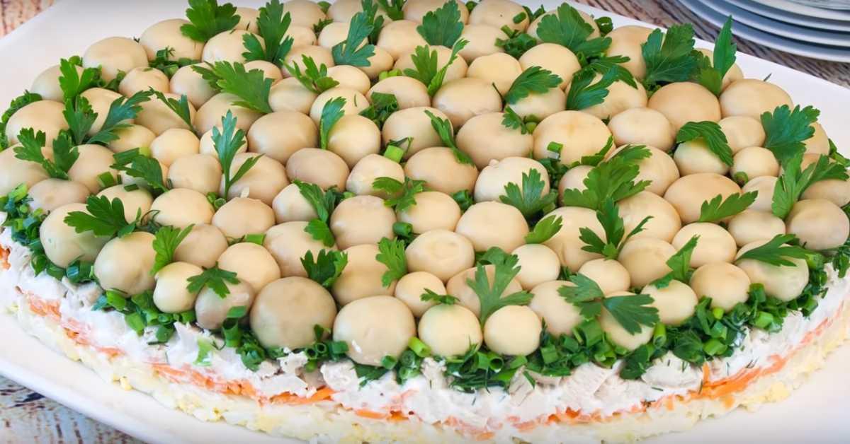 Салат грибная поляна с опятами: ингредиенты, пошаговый рецепт