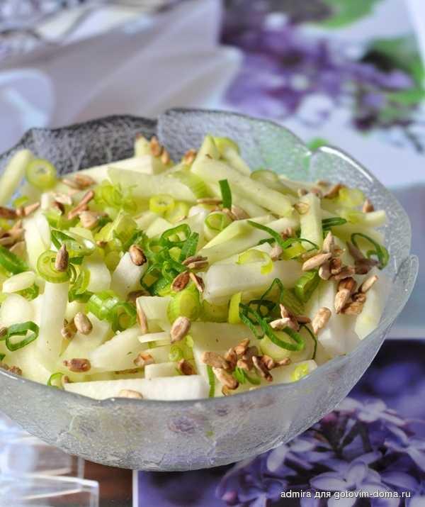 Салат из кольраби без майонеза рецепт с фото пошагово - 1000.menu