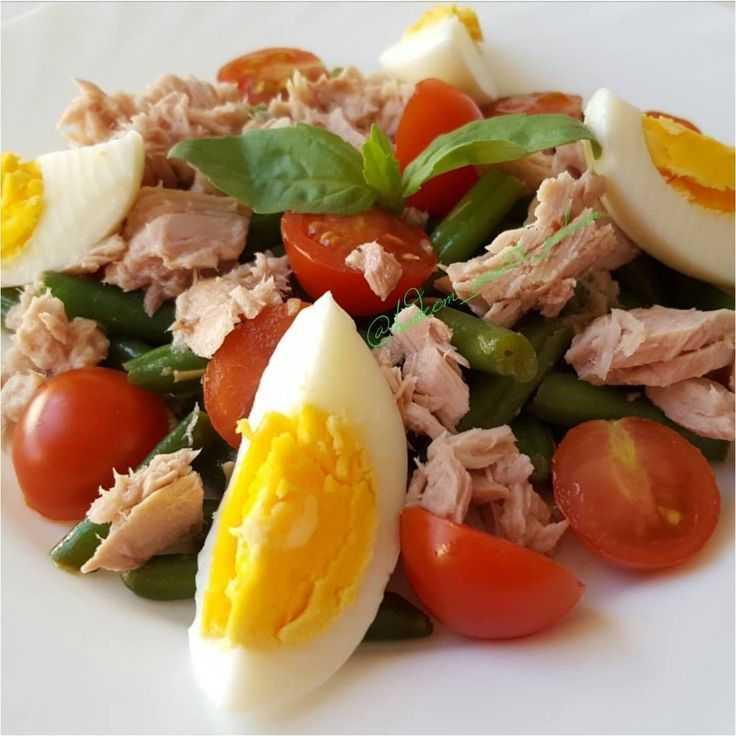 Салат с тунцом и стручковой фасолью рецепт с фото пошагово и видео - 1000.menu