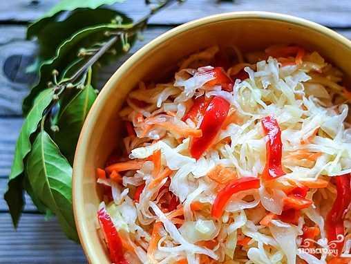 Маринованная капуста с болгарским перцем и кориандром быстро рецепт с фото пошагово и видео - 1000.menu