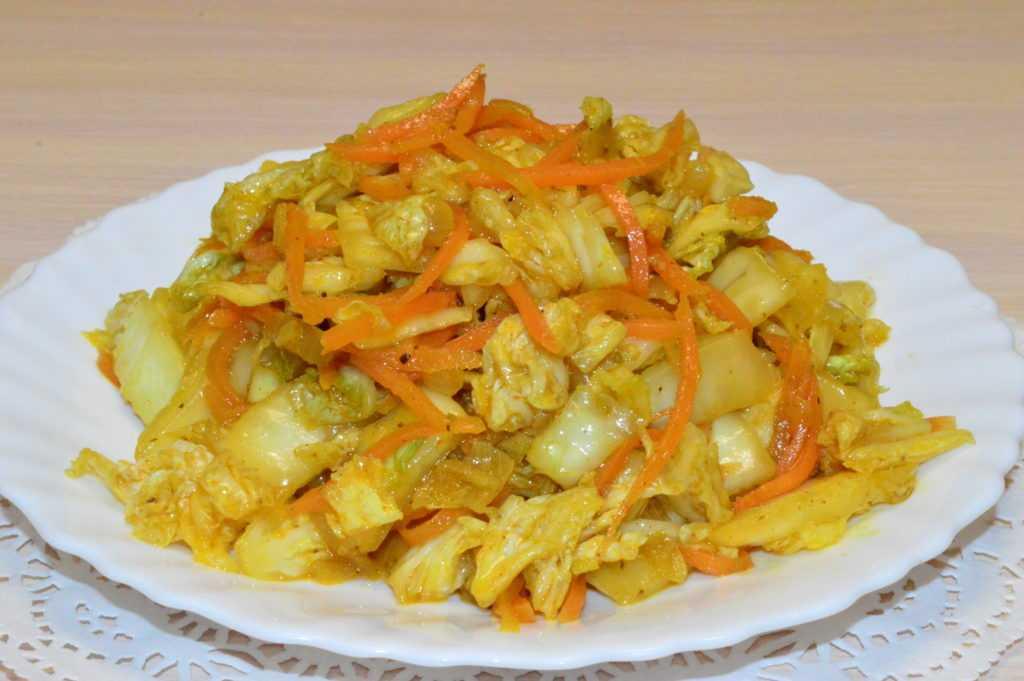 Салат с пекинской капустой, курицей и морковью по-корейски пошаговый рецепт