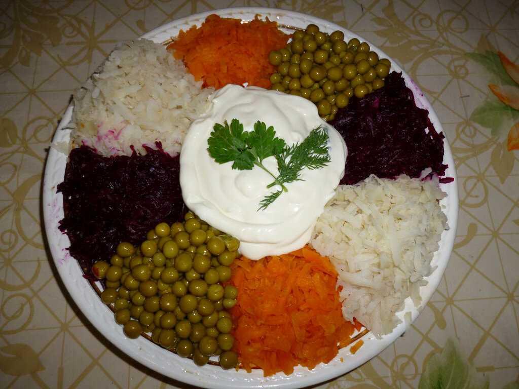 Салат из свеклы с майонезом рецепт с фото пошагово - 1000.menu