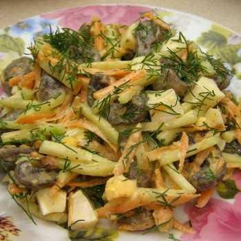 Салат с грибами вешенками рецепт с фото пошагово и видео - 1000.menu
