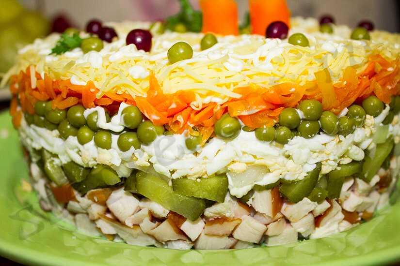 Салат «прага» с курицей и черносливом. пошаговый рецепт с фото   кушать нет