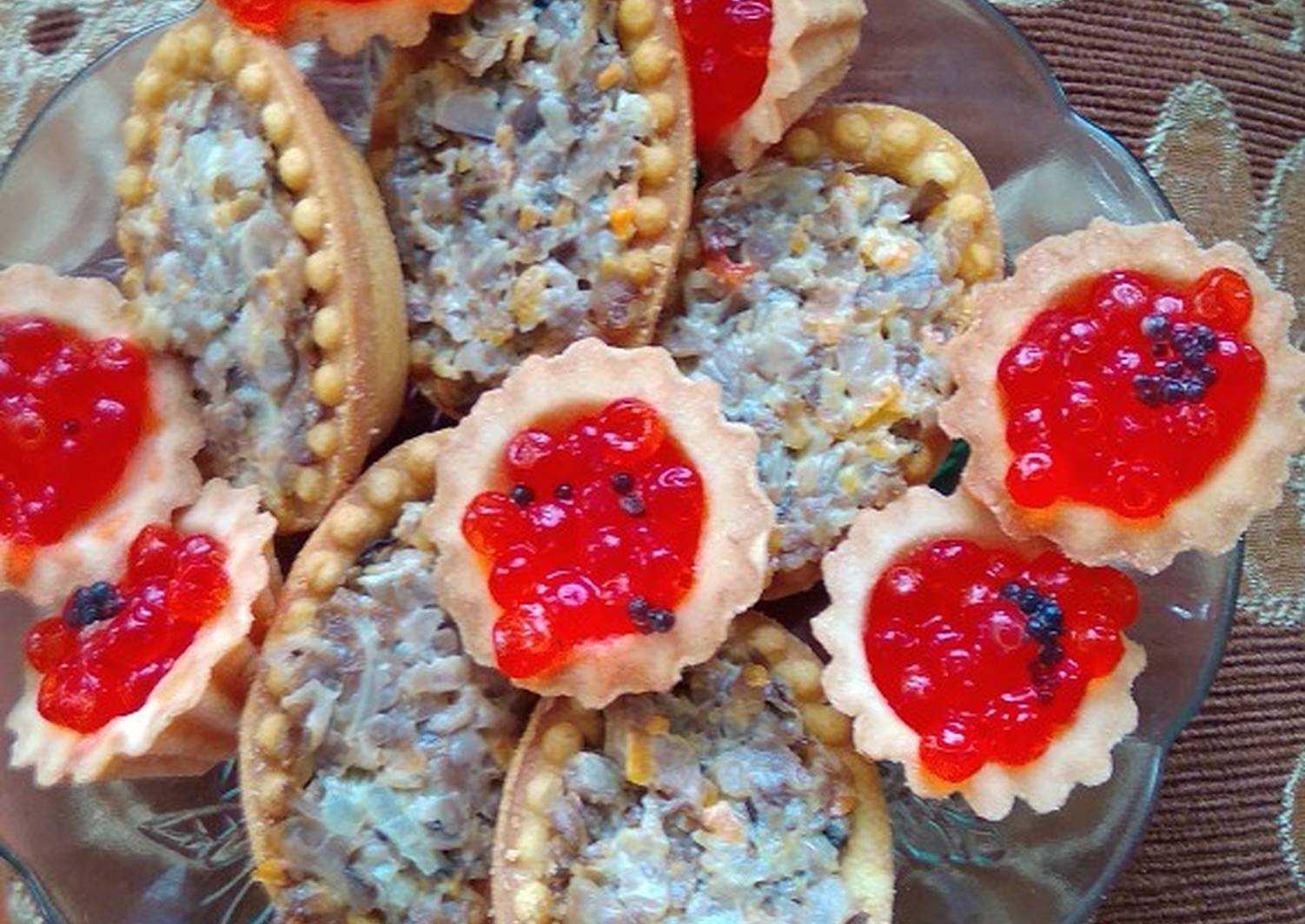 Тарталетки с консервами: пошаговый рецепт с фото