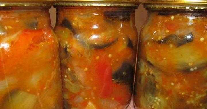 Закуска из болгарского перца с помидорами и чесноком на зиму