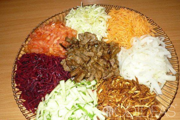 "Салат ""чафан"" — пошаговый рецепт с фото"