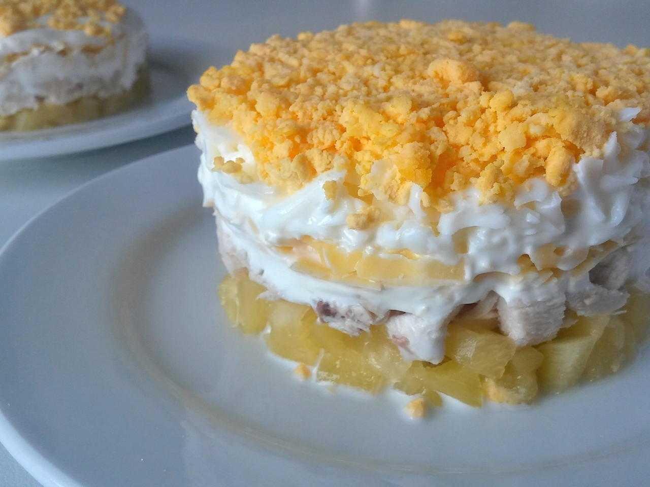 Салат курица сыр ананасы - 38 домашних вкусных рецептов приготовления