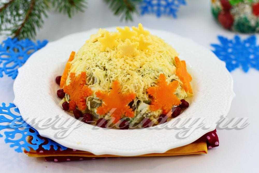 """Салат """"сугроб"""" - 9 пошаговых рецептов на праздничный стол"""