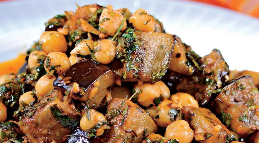 Салат из нута с баклажаном - 20 рецептов: салаты   foodini