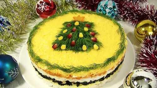 Салат «часы» на новый год: фотографии, рецепт салат «часы» на новый год: фотографии, рецепт