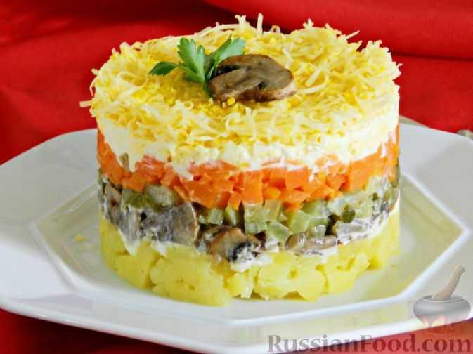 Рецепты приготовления салатов с лисичками