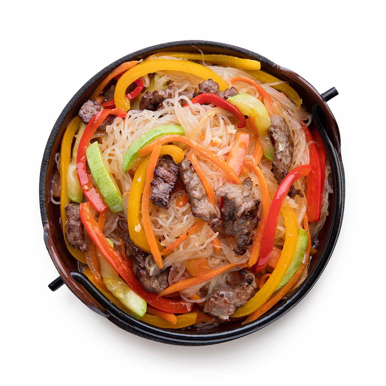 Фунчоза с курицей и овощами - 9 рецептов салата с фото пошагово