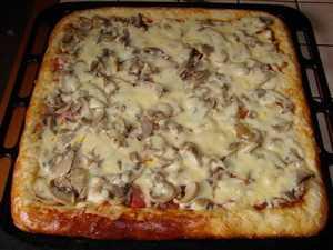 Пицца с курицей и грибами: технология приготовления