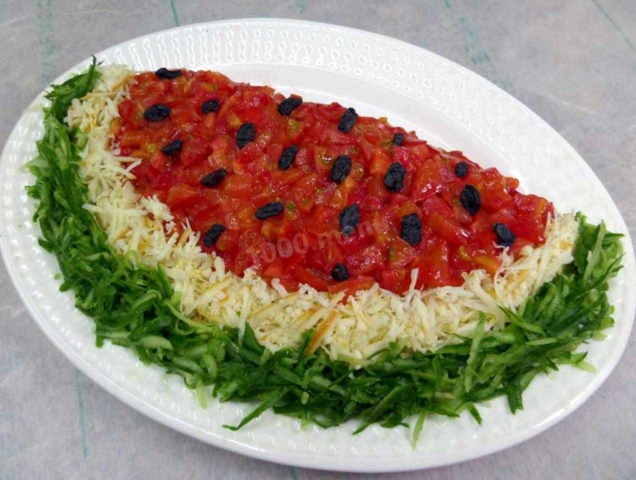 Великолепный салат Арбузная долька к зимним праздникам. Рецепты приготовления с мясом птицы, виноградом и грибами с фото. Советы опытных хозяек.