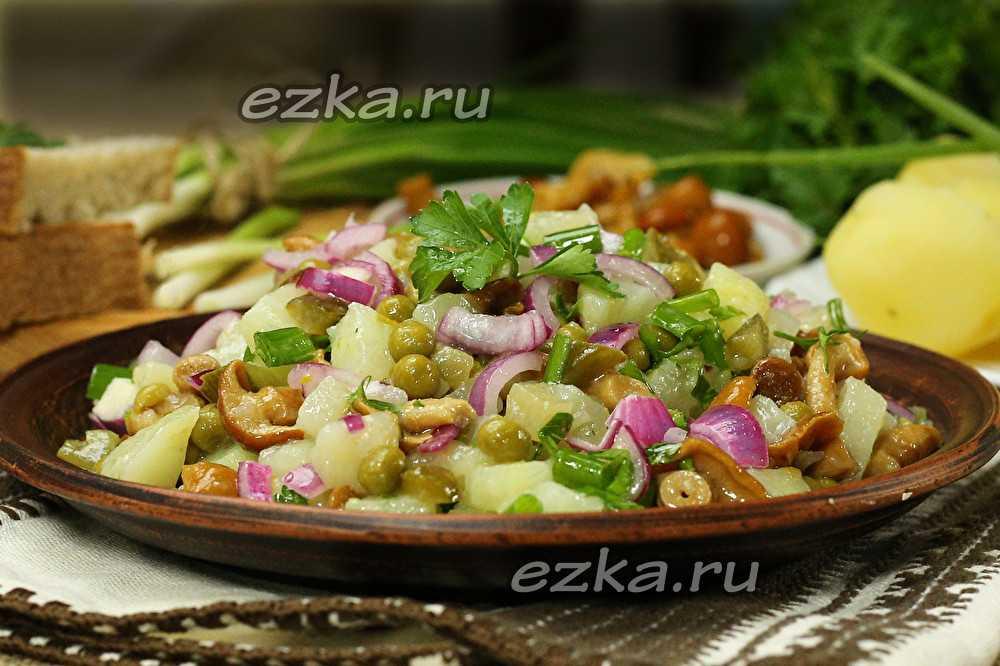 Постный салат из свежих шампиньонов рецепт с фото пошагово - 1000.menu