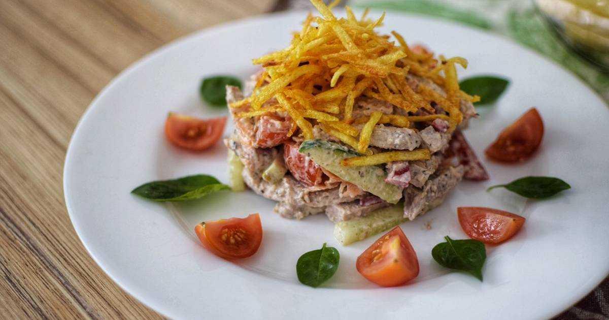 Изысканный мясной салат министерский