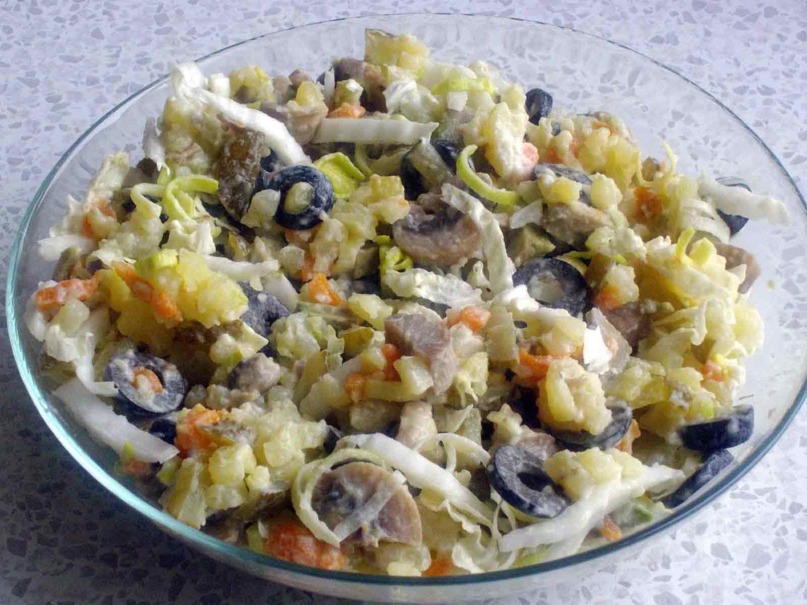 Постный салат с грибами - как разнообразить свой рацион: рецепт с фото и видео