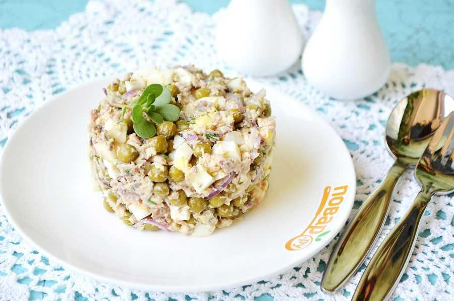 Салат из рыбных консервов - 137 рецептов приготовления пошагово - 1000.menu