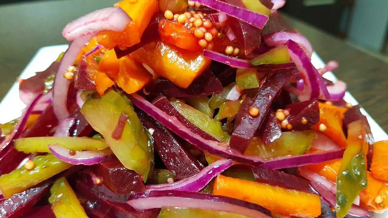 Салат с капустой и свеклой по корейски | меню недели