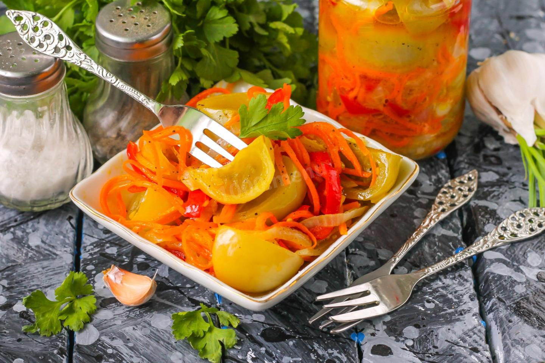 Салат из зеленых помидор по-корейски рецепт с фото пошагово и видео - 1000.menu