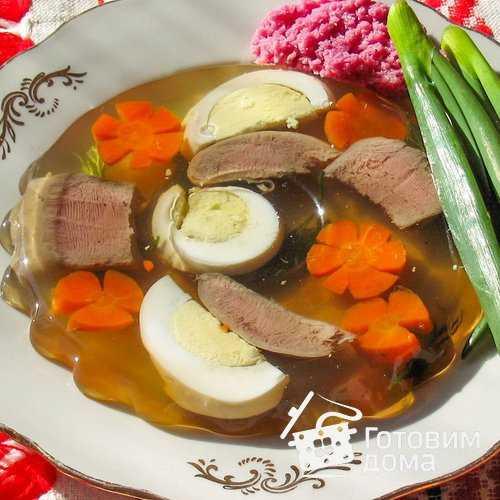 Как приготовить заливное из свиного языка по пошаговому рецепту с фото