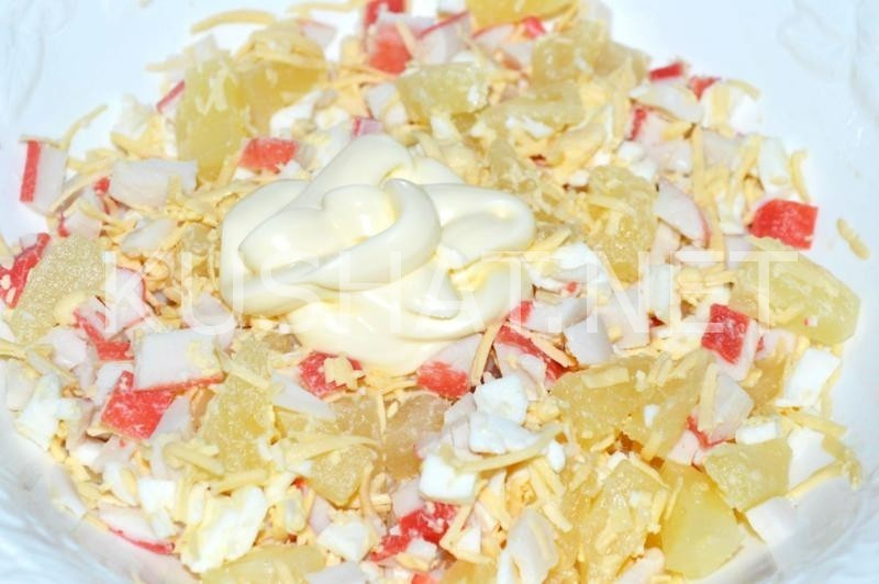 Топ 10 самых вкусных салатов из ананасов и крабовых палочек