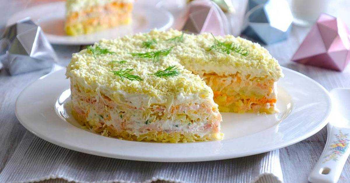 Мимоза салат классический с сыром