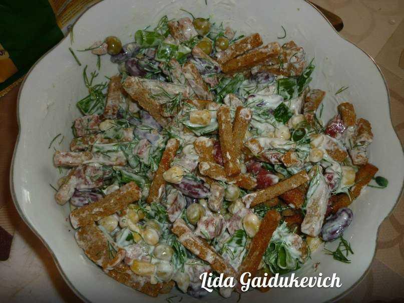 Салат с сыром и охотничьими колбасками рецепт с фото и видео - 1000.menu