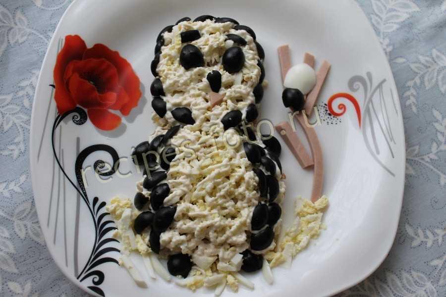 Салат пингвин рецепт с фото пошагово - 1000.menu