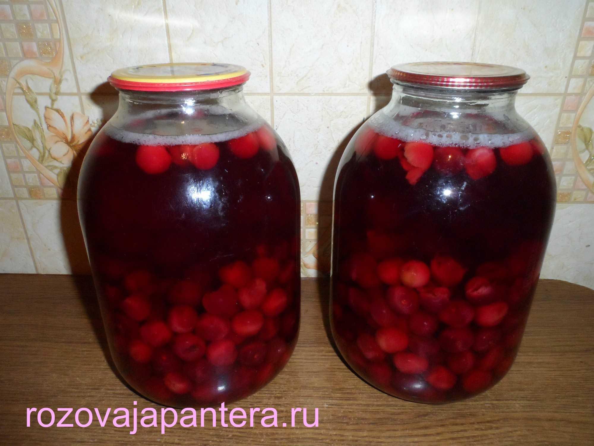 Компот из вишни на зиму в банках (8 рецептов). как приготовить компот из свежих или замороженных вишен