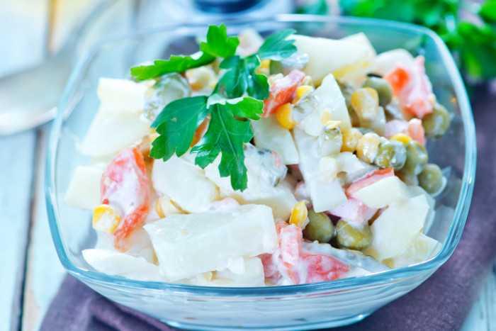 Салат с ананасом и крабовыми палочками. рецепты с фото