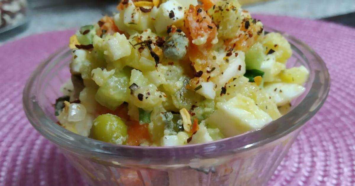 Классический зимний салат - рецепт очень вкусного, сытного блюда для любого стола!