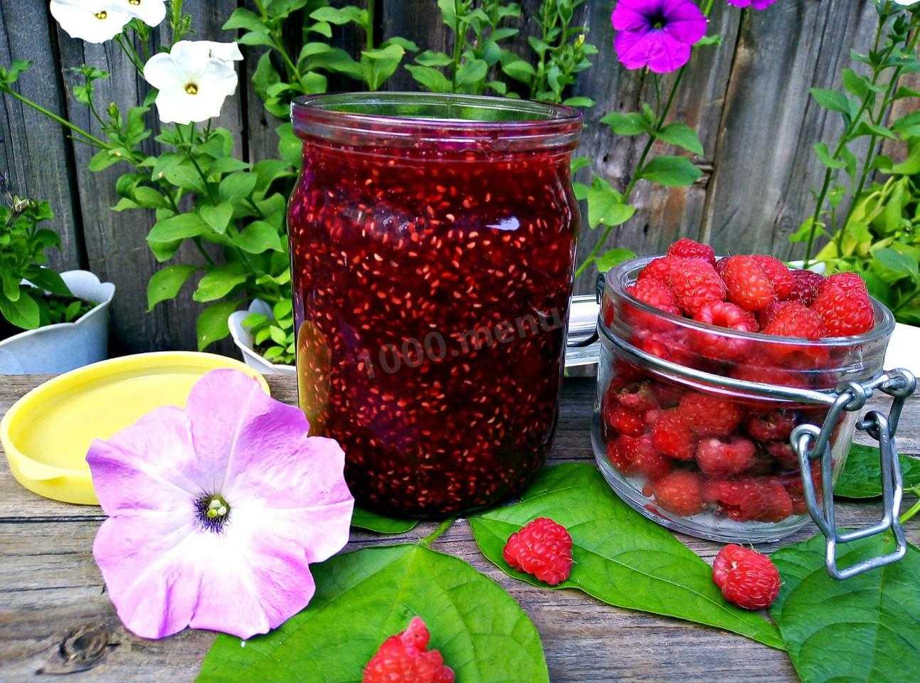 Варенье из малины пятиминутка - простое, в мультиварке, густое, без варки, как желе - рецепты с фото