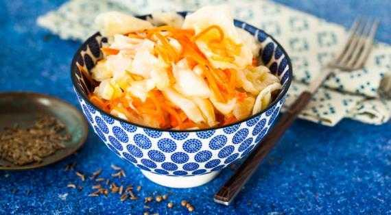 Маринованная капуста по-корейски быстрого приготовления - 7 пошаговых фото в рецепте