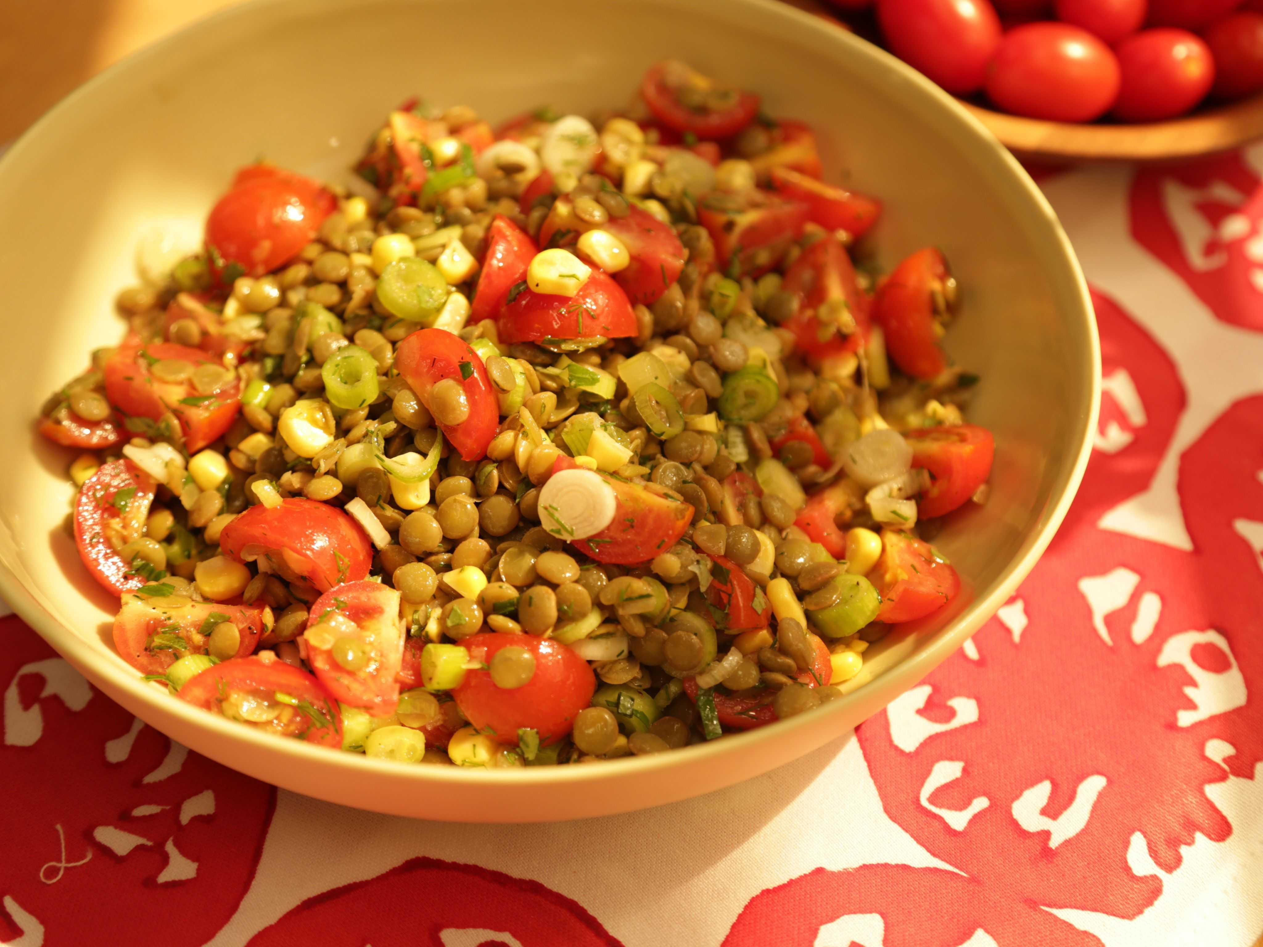 Блюда из чечевицы. чечевица с грибами и салаты с зеленой чечевицей (рецепты с видео)