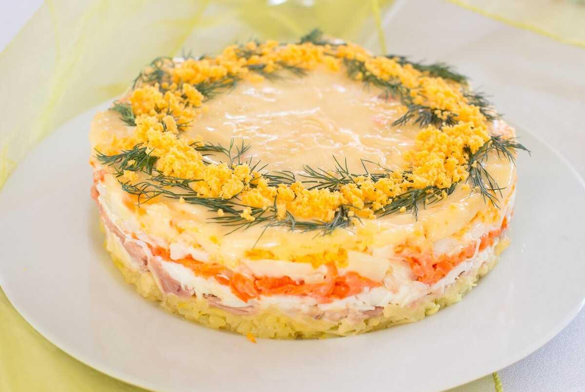 Как приготовить салат мимоза классическая с лососем: поиск по ингредиентам, советы, отзывы, пошаговые фото, подсчет калорий, удобная печать, изменение порций, похожие рецепты