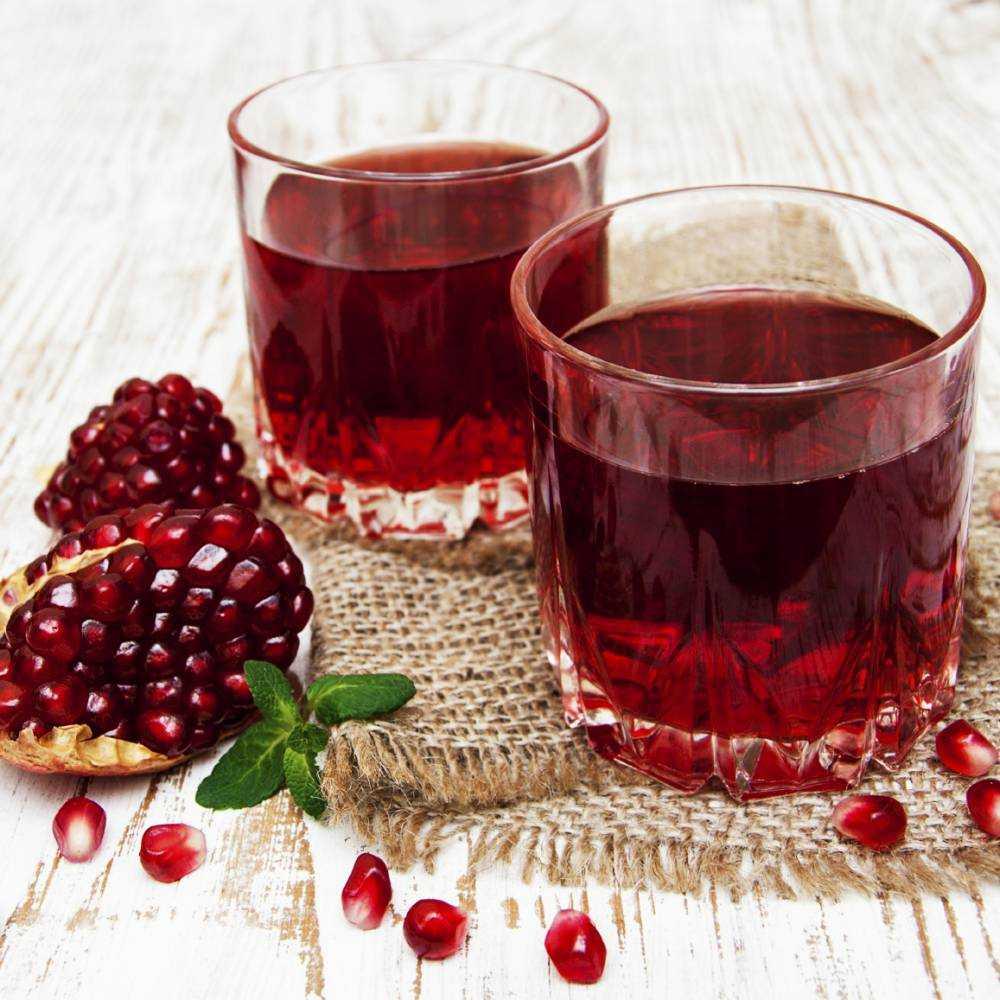 Гранатовый сок: польза и вред для организма человека, состав витаминов, калорийность
