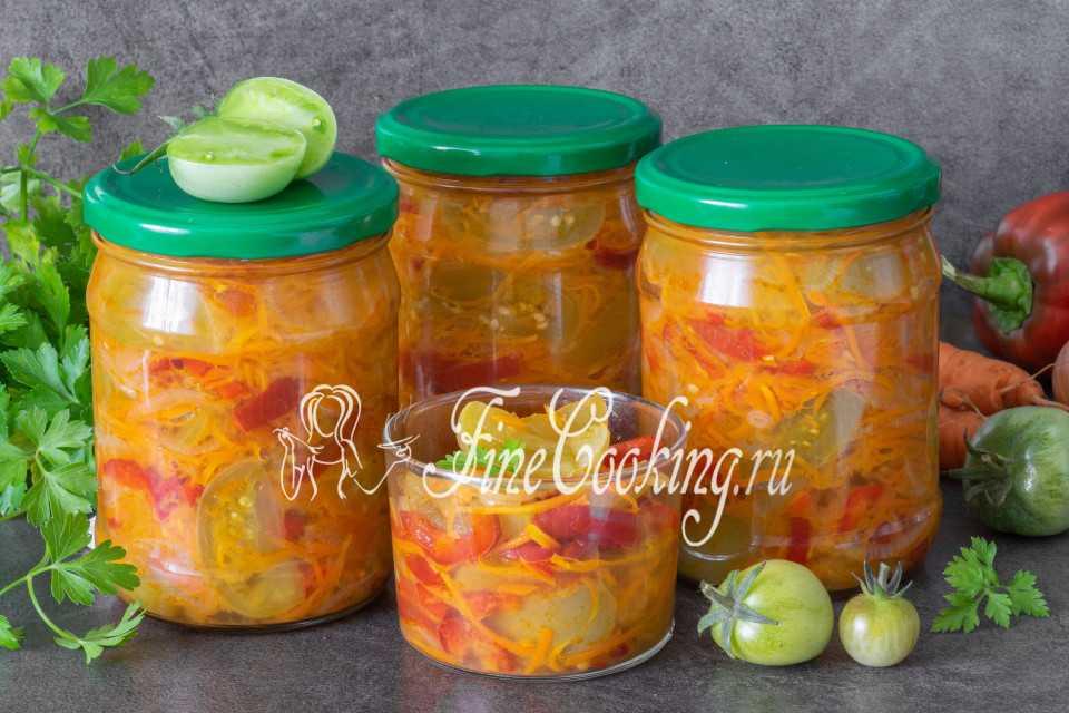 Салат из зеленых помидор на зиму рецепт с фото - 1000.menu