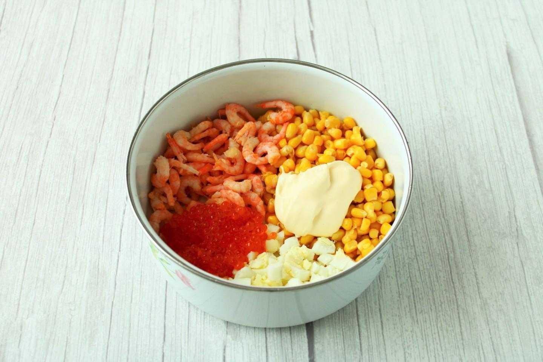 Рецепты тайский салат с креветками