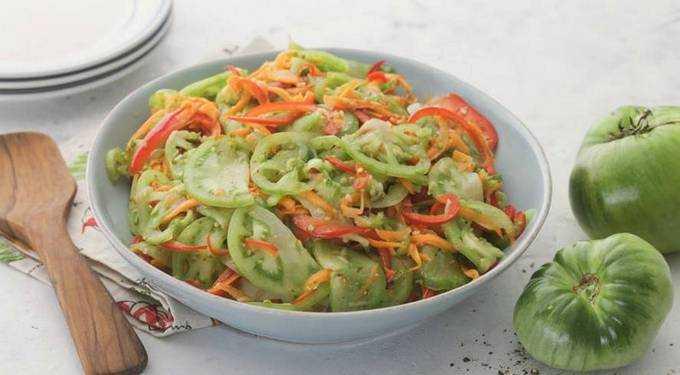 Зелёные помидоры по-корейски – самые вкусные рецепты с фото, пошагово