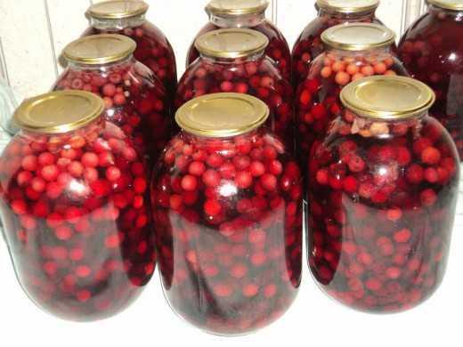 Ароматный вишневый компот на зиму: быстрые рецепты на 3 л, 2л и 1 л банку