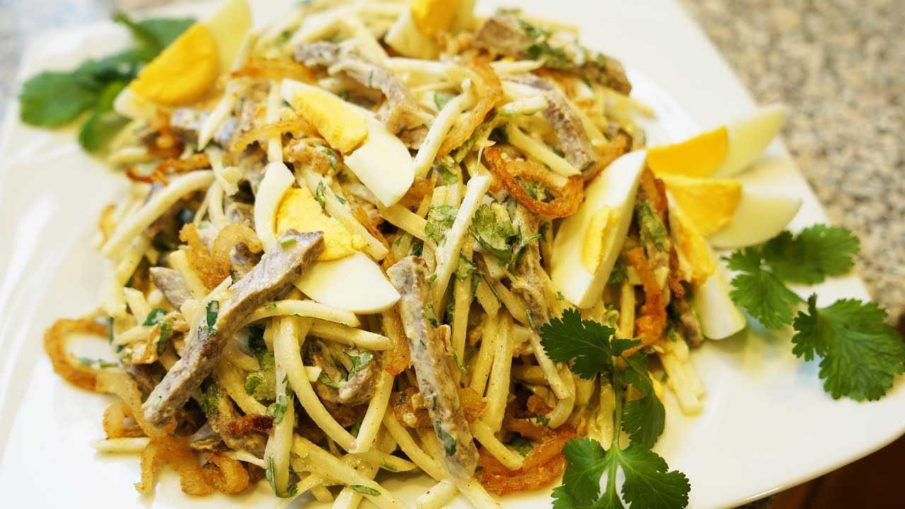 Салат «ташкент» — классические рецепты с говядиной, редькой, луком