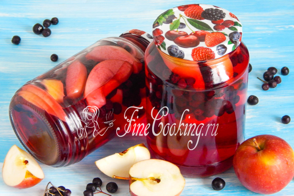 Сироп из черноплодки со вкусом вишни, на зиму